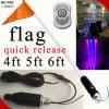 Color Changing LED Antenna Light with Fiber Optic 4FT 5FT 6FT Grb Light Bar