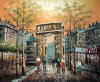 Knife Oil Paintings Art Work---Walking People in The Street