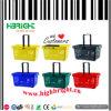 Colourful Supermarket Portable Plastic Shopping Basket