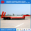 Factory Selliing 2 Axle 40 Tons Lowbed Semi Trailer with Mechanical Ramp
