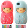 New Sweet Cute Japanese Dolls Silicone Soft Case for iPhone 5