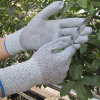 PU Dipped Cut Resistant Gloves Level 3 Safety Work Glove