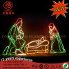 Waterproof LED Christmas Nativity Scene Rope Light Motif for Outdoor Decoration