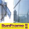 Aluminium Curtain Wall with Blinds