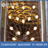 Factory Manufacture Peacock Shape Golden Curtain Wall for Hotell Lobby