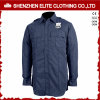 Long Sleeve Navy Blue Guard Security Uniform Shirts (ELTHVJ-315)