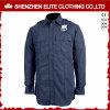 Long Sleeve Navy Blue Guard Security Uniform Shirts (ELTHVJ-315)