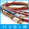 Colorful Hemp Knitting 3.5mm to 3.5mm Audio Cable