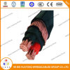 0.6/1kv Copper Conductor XLPE Insulated Concentric Cable 3*8AWG 3*10AWG