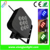 9 X10W Rechargeable LED PAR Light LED Lamp