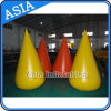 Wholesale Yellow Safe Buoy for Water Games, Truncated Circular Life Buoy, Inflatable Boom for Warning / Crowd Control