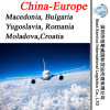 Cargo Shipment Macedonia, Bulgaria, Yugoslavia, Romania, Moladova, Croatia (air freight)