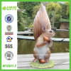 Hungary Squirrel Polyresin Craft for Desktop Decoration (NF13011-2)