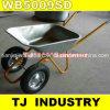 Russia Double Wheels Wb5009SD Wheel Barrow