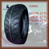 Tubeless, Long Life, Nylon 6pr Motorcycle Tire with 12/70-12tl, 130/70-12tl, 13/60-13tl