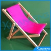 Foldable Wooden Beach Chair with Canvas