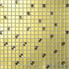 15X15mm Yellow Gold Mirror Glass Mosaic with Star Diamond