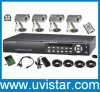 4 Channel H264 DVR IR Waterproof Camera CCTV Security System (DH1704KPC)