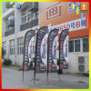 OEM Double Sided 14′ Feather Flag with Cross Base