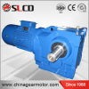 Right Angle Helical Bevel K Series Solid Input Shaft Gearmotor for Mobile Crusher