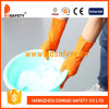 Ddsafety 2017 Orange Household Latex Gloves Flock Lined Diamond Grip