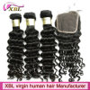 Wholesale Peruvian Virgin Hair Bundles with Lace Closure