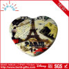 Heart Shape Pocket Makeup Mirror Covered by PU with Printing