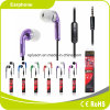 Hot Sale Purple Mobile Phone Earphone Microphone MP3 Earphone