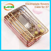 Plating Bumper and Diamante Clear Case for Samsung S7 Edge