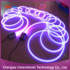 14mm Large Core Plastic Side Glow Fibre Optic with Transparent Jacket
