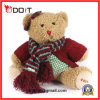 Girls Soft Furry Plush Teddy Bear with Scarf