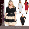 High Quality Woman Fashion Party Lace Plus Size Dress (TP4448)