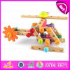 2015 Wooden Changeable Screw Assemble Toy, Alterable Children Wooden Screw Toy, Wooden Vehicles Toy, DIY Wooden Toy Airplane W03c013