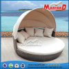 Modern Kd Rattan Outside Pool Round Sunbed with Canopy