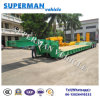 50t Flexible China Lowbed Crane Vehicle Trailer