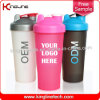 600ml Plastic Protein Shaker Bottle with Blender mixer Ball Inside (KL-7010)
