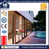 Wood Color Aluminium Double Glazed Slide Door with Blinds
