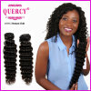 Stock Indian Virign Remy Deep Wave Hair Weft, Tangle Free and No Shedding