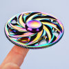 Adhd Aniexty Autism Stress Reducer Rainbow Windmill Metal Fidget Spinner