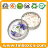 Round Tin Candy Can for Food Packing, Mint Tin Box