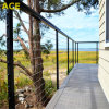 Outside Deck Railing / Stainless Steel Rope Wire Railing with Square Baluster
