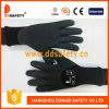 Ddsafety Black Latex Foam Double Gloves Black with Knitting Cuff