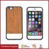 Slim Anti-Fingerprint Wooden Grain Lagging PU Leather Cell Phone Cases