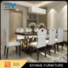 Stainless Steel Furniture 8 Seaters Glass Dining Table