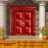 6 Panel Solid Wooden Exterior Door Front Door (GSP1-024)
