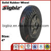 High Performance 4 Inch Natural Rubber Wheels for Trolley