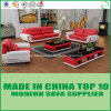 Modern Furniture Set Office Leather Sofa with Wooden Frame