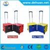 Folding Plastic Shopping Cart/Supermarket Trolley/Packaging Trolley