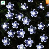 Solar White IP44 Flower String Lights for House Wedding Garden