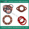Food-Grade Silicone Flat Round Soft Red Rubber Gasket